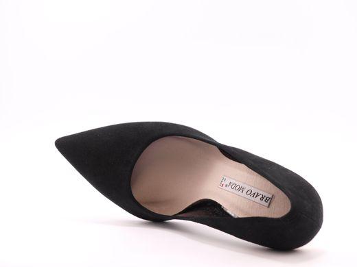 371fabe471c69e Купити туфлі BRAVO MODA 1254 black/suede/gold в Україні, Києві ...